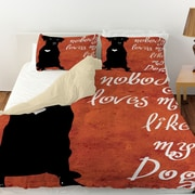 Manual Woodworkers & Weavers Nobody Loves Me Like My Dog Duvet Cover; Queen