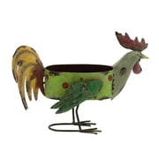 ABCHomeCollection Rooster Iron Pot Planter