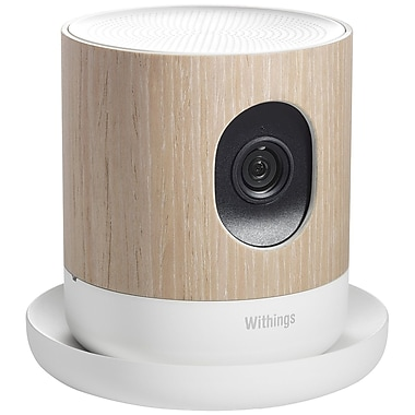 Withings® 70047701 Home Wireless HD Video Camera, Indoor, Brown/White