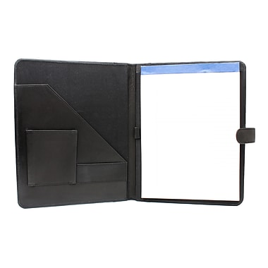 Ashlin® PETERBOROUGH Refillable Journal with Business Card & Pen, Black, (P9004-00-01)
