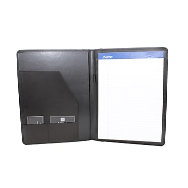 Ashlin® PETERBOROUGH Refillable Journal with Business Card & Pen, Black, (P9004-49-01)