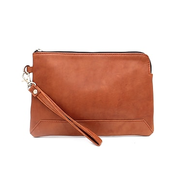 Ashlin® KAYLEIGH Medium Wristlet with Zipper Closure & Removable Strap, British Tan, (K265-18-08)
