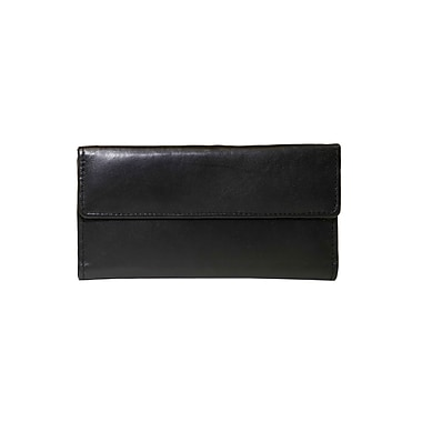 Ashlin® REDGROVE RFID Blocking Ladies Slim Clutch Wallet, Black , (RFIDL5910-07-01)