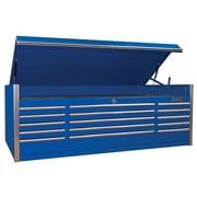 "Extreme Tools 72"" 15 Drawer Triple Bank Professional Top Chest Blue"