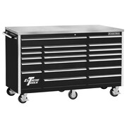 "Extreme Tools 72"" 18 Drawer Standard Triple Bank Roller Cabinet"