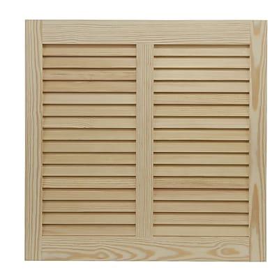 Shutters By Design 110'' W Pine Bermuda / Bahama Shutter; 28'' H x 110'' W