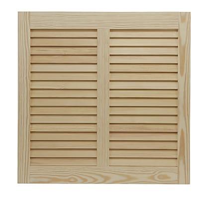Shutters By Design 102'' W Pine Bermuda / Bahama Shutter; 52'' H x 102'' W