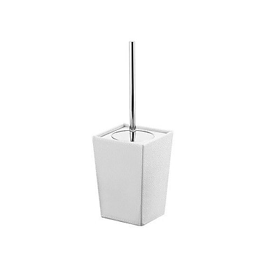 Gedy by Nameeks Kyoto Free Standing Toilet Brush and Holder; White