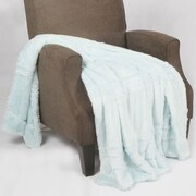 BOON Throw & Blanket Oversized Double Sided Faux Fur Throw Blanket; Light Blue