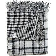WovenWorkz Madison Throw Blanket; Black