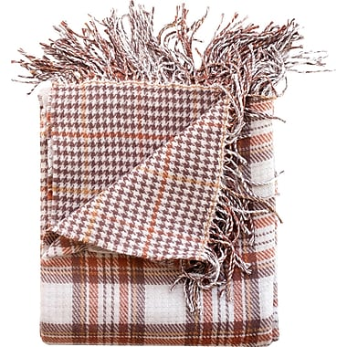WovenWorkz Madison Throw Blanket; Camel