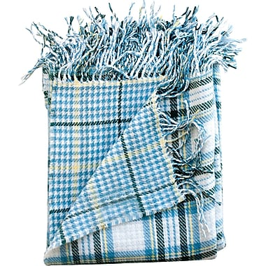 WovenWorkz Madison Throw Blanket; Denim