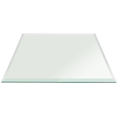 Fab Glass and Mirror Square Glass Bevel Polish Tempered Radius Corners