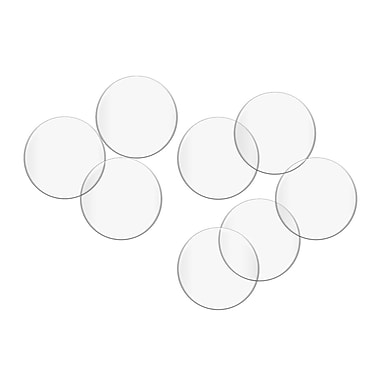 Fab Glass and Mirror Clear Plastic Desk Button (Set of 8)