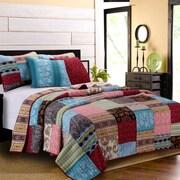 Greenland Home Fashions Bohemian Dream Bonus Reversible Quilt Set; King