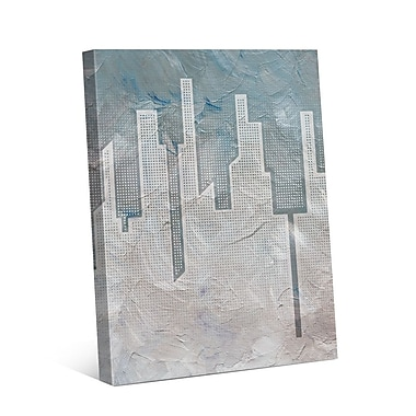 Click Wall Art Skyline Slate Graphic Art on Wrapped Canvas; 24'' H x 20'' W x 1.5'' D