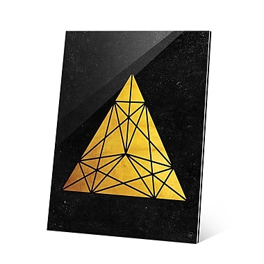 Click Wall Art Prism Gold Graphic Art; 14'' H x 11'' W x 1.5'' D