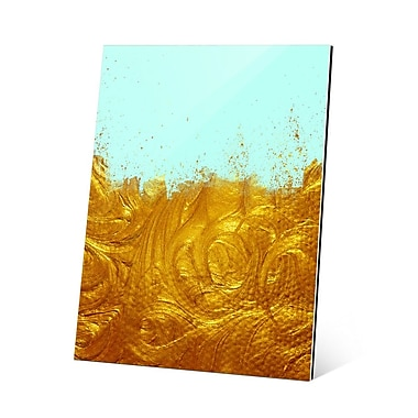 Click Wall Art Liquid Gold Graphic Art; 24'' H x 20'' W x 1.5'' D