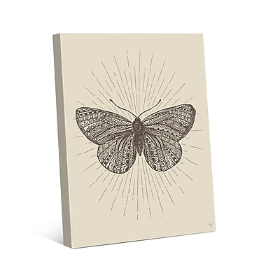 Click Wall Art Tribal Butterfly Graphic Art on Wrapped Canvas; 24'' H x 20'' W x 1.5'' D