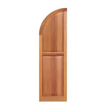 Shutters By Design Western Cedar Raised Panel Arch Top Shutter; 43'' H x 12'' W