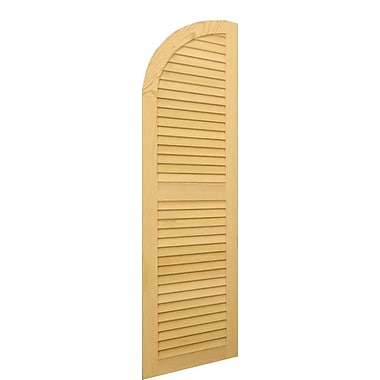 Shutters By Design Louver Arch Top Shutter; 34'' H x 18'' W