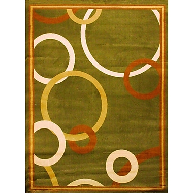 Bekmez International Inc. Elif/Passion Green Area Rug; 5'3'' x 7'5''