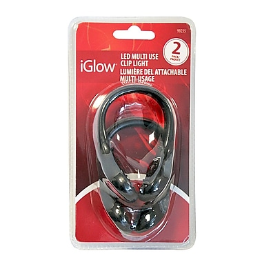 iGlow – Lumière DEL sur pince de chaussure, 4 x 2,4 x 7,12 (po), paq./2