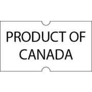 "Motex 5500 Product of Canada Label, 7/8"" x 7/16"", White, Black Text, 10/Rolls (38-1252-POC)"