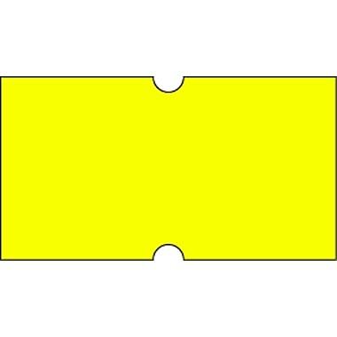 Motex – Étiquettes 5500 fluorescentes, 7/8 x 7/16 po, jaune, 10/rouleaux (38-1253-FLYELL)