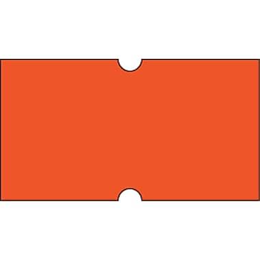 Motex – Étiquettes 5500 fluorescentes, 7/8 x 7/16 po, rouge, 10/rouleaux (38-1253-FLRED)