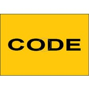 "Motex 6600 Code Label, 7/8"" x 10/16"", Yellow, Black Text, 10/Rolls (38-1260-CODE)"
