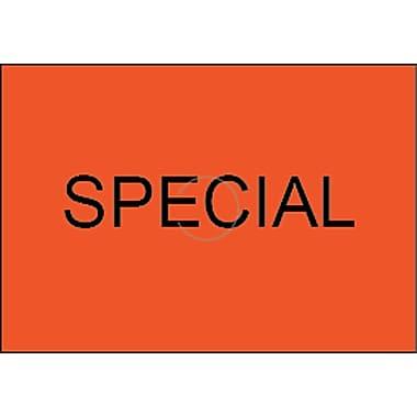 Motex – Étiquettes 6600 Special, 7/8 x 10/16 po, rouge fluorescent, lettrage noir, 10/rouleaux (38-1260-SPECIAL)