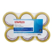 Staples® Clear View Super Strength Packaging Tape, 6-Pack