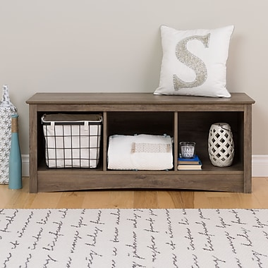Cubby Bench, Drifted Grey