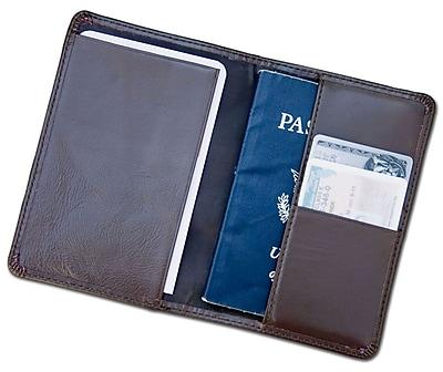 Dacasso Chocolate Brown Leather Passport Holder (DCSS425)