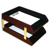 Dacasso  Toned Leather Double Legal Trays (DCSS444)