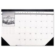 House of Doolittle HOD1226 Compact Black On White Desk Pad (HSODL008)
