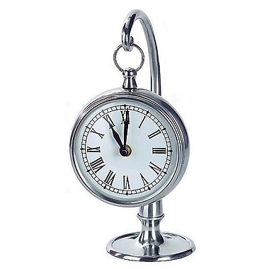 Home Decor Improvements Pewter Finish Hanging Clock (IMAX1192)