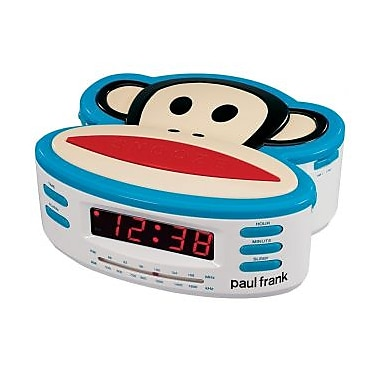 Paul Frank Single Alarm AM-FM Clock Radio with Battery Back-Up (MGGD3350)