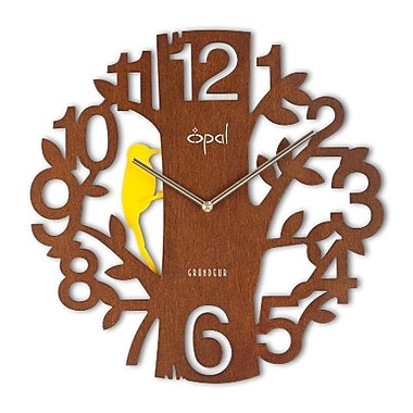 Opal Luxury Time Products Designer Clock With Cut Figures, Light Brown (OPLX033)