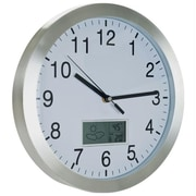 TG  Weather Forecast Wall Clock - 12 inch Aluminum (TC72-CW175)