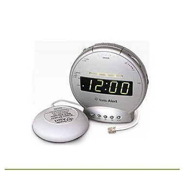 Sonic Bomb Alarm Clock with Phone Sig Vib (TDSA-SBT425SS)