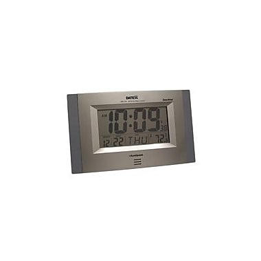 Teledex Inc Radio Control Wall Clock with Month Day Date Temperature (TELDX006)