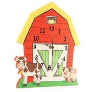 Teamson  Wooden Wall Clock - Happy Farm Room Collection (TMN342)