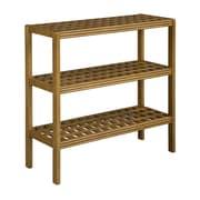 New Ridge Home Goods Beaumont 35'' Etagere Bookcase; Cinnamon