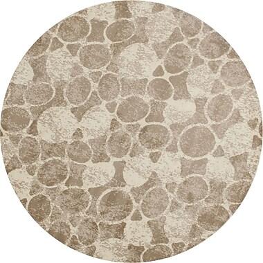 Art Carpet Arbor Beige Area Rug; Round 5'3''
