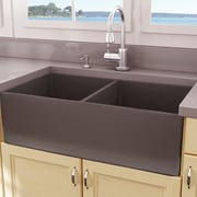 Nantucket Sinks Cape 33'' x 18'' Double Bowl Farmhouse Fireclay Kitchen Sink