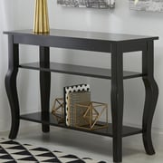 Kate and Laurel Lillian Console Table; Satin Black