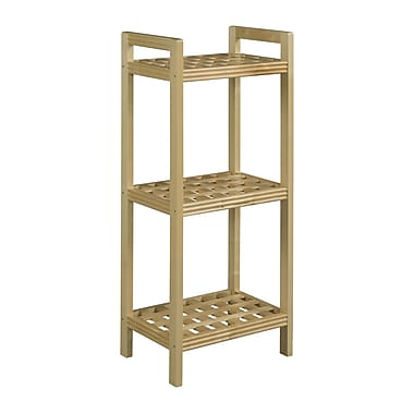 New Ridge Home Goods Beaumont 46'' Etagere Bookcase; Blonde