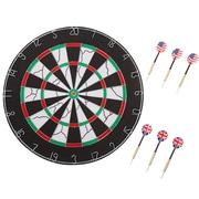 Hey! Play! 18 inch Double-Sided Flocking Dartboard with Six 17g Darts (886511975385)